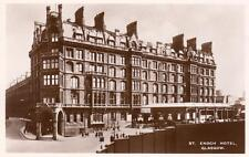 St Enoch Hotel Glasgow Advertising LMS unused RP pc