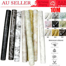 10M Rolls Contact Paper Marble Wallpaper Self Adhesive Home Wall Sticker Decal