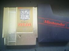 NINTENDO NES LEGEND OF ZELDA GOLD CART W/ DUST COVER ORIGINAL AUTHENTIC TESTED