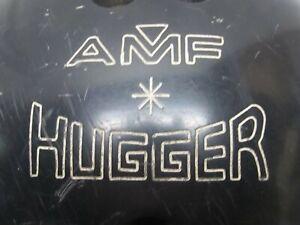 VINTAGE AMF HUGGER BOWLING BALL 10 LBS. BLACK