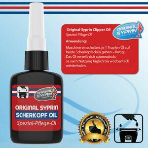 Original Syprin Scherkopf-Öl für Haarschneidemaschinen Haarschneider Rasierer