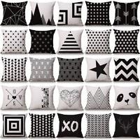Romantic Pillow Case Cotton Linen Vintage Throw Cushion Cover Sofa Home Decor