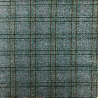 Teal Plaid Wool for Rug Hooking and Wool Applique