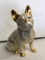 Statua complementi arredo scultura cane bull dog francese animali ceramica