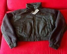 Urban Outfitters Cropped Half Fleece Jacket Woman UK Size XS Black RRP £62 BNWT