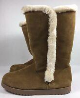 Womens Winter Boots Mid Calf Suede Faux Fur Daniela Universal Thread Brown 11