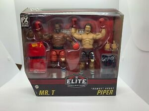 "Mattel WWE Elite Mr. T & ""Rowdy"" Roddy Piper Action Figure Set IN STOCK!"
