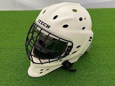 USED Ice Hockey ITECH PROFILE GOALIE MASK WHITE Unknown Size Refurbish Project