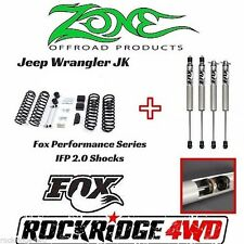 "Zone Jeep Wrangler JK 07-17 4 door 3"" Suspension Lift Kit W/ Fox Performance 2.0"