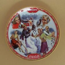JANUARY Coca-Cola Days Calendar Plate COKE #1 Bradford Exchange Free Shipping!