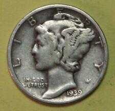 1939-S or 1940-S or 1941-S US Mercury silver Dimes Fine or Better Coin Ck Inv.