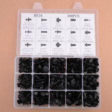 300Pcs Car Body Hole Plastic Push Pin Rivets Fasteners Clip Assortments 15 Sizes