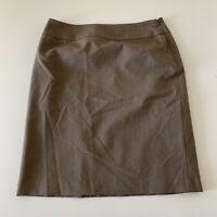 Tahari Pencil Knee Length Skirt Women's Size 10 Brown