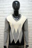 DANIELE ALESSANDRINI Maglione M Cashmere Cardigan Uomo Pullover Maglia Sweater