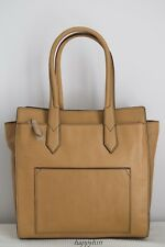 Fossil $449 Knox Tote Beige Camel Leather Bag Handbag Extra Large BNWT