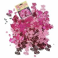 Baby Shower Girl Pink Party Decorations Table Foil Confetti