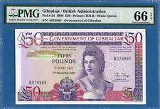 Gibraltar, British Administration, 50 Pounds, 1986, Gem UNC-PMG66EPQ, P24