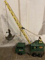 Vintage Power House Lumar Toy Crane Louis Marx & Co Mancave Dad Christmas Gift