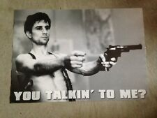 "taxi driver - ""you talkin to me?"" 24 x 36 poster"