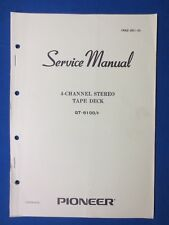 Pioneer QT-6100 8 Track Service Manual Factory Original The Real Thing