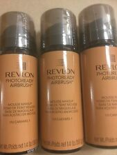 3 X Revlon PhotoReady Airbrush Mousse Makeup Foundation  CARAMEL -New AND Sealed
