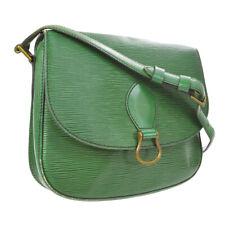 LOUIS VUITTON SAINT CLOUD GM SHOULDER BAG PURSE GREEN EPI M52194 A41461k