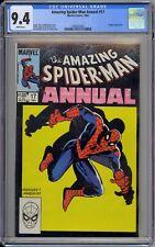 Amazing Spider-Man Annual #17 CGC 9.4 NM Wp Marvel Comics 1983 Tough Black Cover
