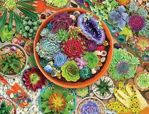 Springbok 500 Piece Jigsaw Puzzle Succulent Garden - Made in USA