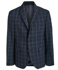 NWT Ralph Lauren Big Boys Classic-Fit Stretch Navy Windowpane Sport Jacket 8 R
