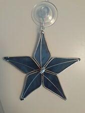 Stained Glass Blue Star Suncatcher