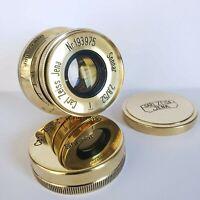 Lens SONNAR Carl Zeiss Jena DRP Sonnar 2.8/ 52mm M39 Rangefinder  LEICA Gold