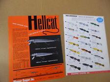 c.1960 Whopper Stopper Hellbender Fishing Lure Color Chart Catalog Sheet Vintage