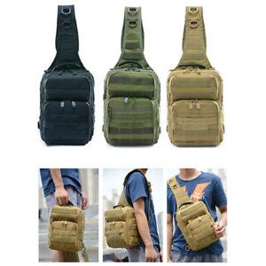 Men Military Tactical Molle Chest Cross Outdoor Sports Shoulder Messenger Bag