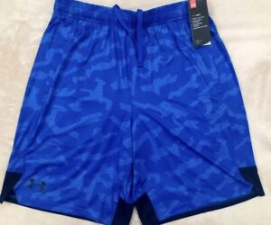 1351808-486.NEW.UNDER ARMOUR MEN MEDIUM STRETCH TRAIN TAPOUT SHORTS 2 POCKETS.