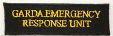Garda Emergency Response Unit Black & Yellow Patch Badge Iron Or Sew On 10cm