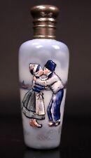 Antique Dutch Porcelain Scent Bottle Enamel Painted Circa 1920