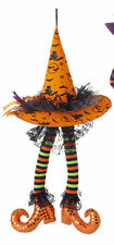"RAZ Imports Halloween Decor - 23"" Hanging Witch Hat with Legs (ORG Hat)"