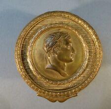 Dose Schatulle Schmuckkästchen Medaille Napoleon Bonaparte sign. Andrieu um 1810