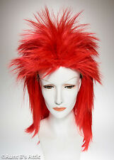 Wig Red 1980's Punk Style Shag Synthetic Fiber Costume Wig