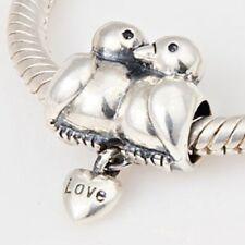 Love Birds Charm Bead 925 Sterling Silver