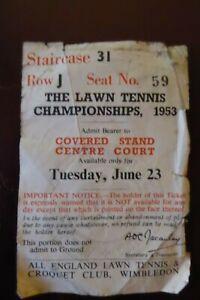 1953 Wimbledon Centre Court Ticket