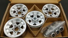 "RC Channel 1.9"" +5mm offset Beadlock Aluminum wheel set. Titanium silver color"
