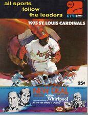 1975 Baseball program Los Angeles Dodgers @ St. Louis Cardinals, unscored ~ Good