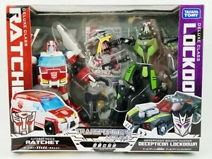 Transformers Animated Deluxe Class Autobot Ratchet vs Decepticon Lockdown NRFB
