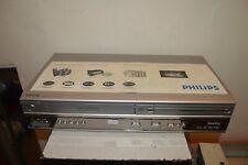 MAGNETOSCOPE VHS & LECTEUR  DVD VIDEO COMBO PHILIPS VP620VR FONCTIONNE VCR COMBI