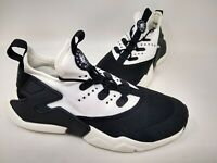 NEW! Nike Youth Boys Air Huarache Drift Lace Up Shoes Blk/Wt #943344-002 80P pc