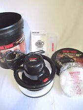 MOTOR TREND ORBITAL WAXER & POLISHER KIT WITH TALL 5 Gal BUCKET SEAT CONTAINER