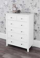 Brooklyn White 2 4 Chest of Drawers Assembled Dovetail Joints Metal Runners