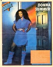 DONNA SUMMER in blue  LARGE newsprint POSTER/ Pin Up 16x12 inches