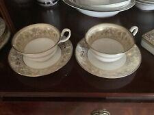 Wedgwood Florentine Gold Cups Demitasse Ornate. Displayed In Cabinet.